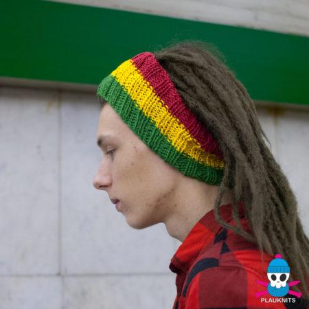 Раста вязаная повязка на голову для дред
