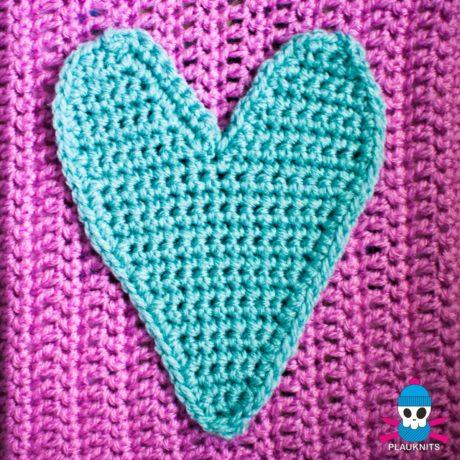 Вязаная обложка для книги Сердце
