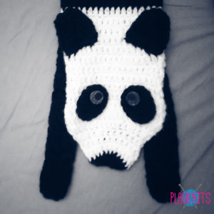 Вязаный зверошарф панда