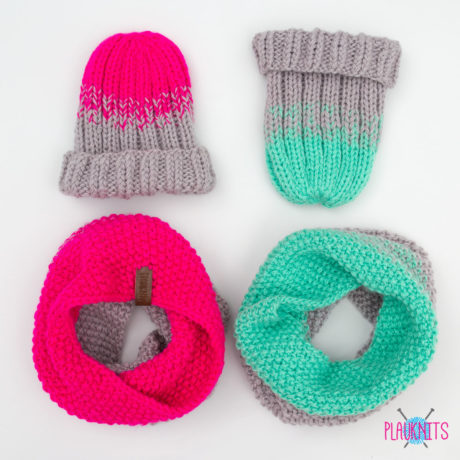 Вязаные комплекты шапка и шарф-снуд Градиент