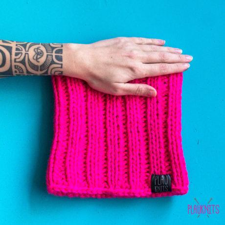 Розовая вязаная повязка на голову для дред Энтальпия