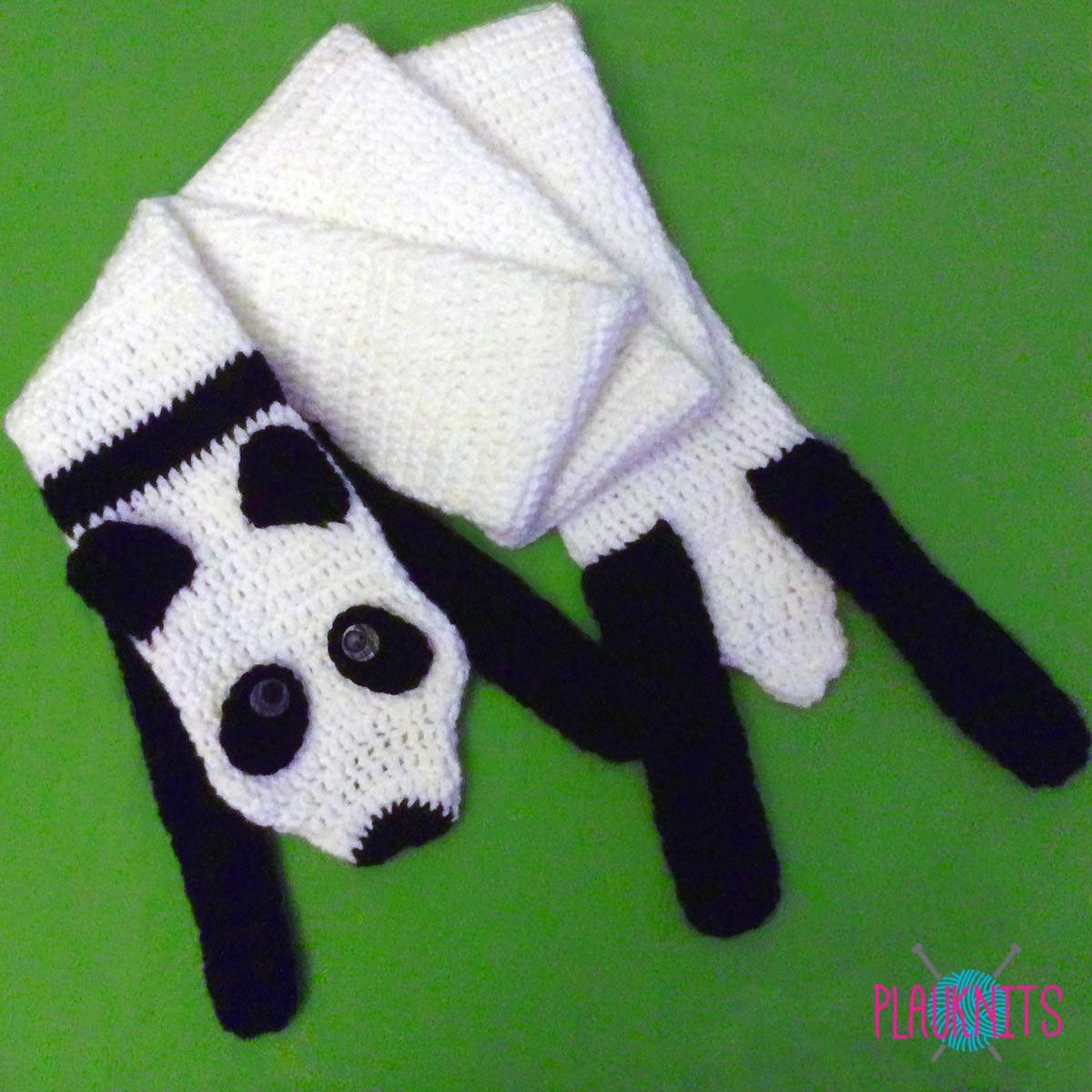 Вязаные зверошарфы: шарф енот, лиса, панда!