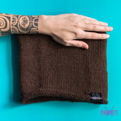 Коричневая вязаная повязка для дред ручной работы Экзо