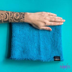 Синяя вязаная повязка для дред ручной работы Экзо