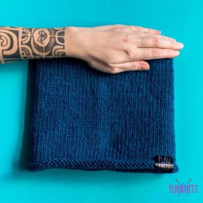 Тёмно-синяя вязаная повязка для дред ручной работы Экзо