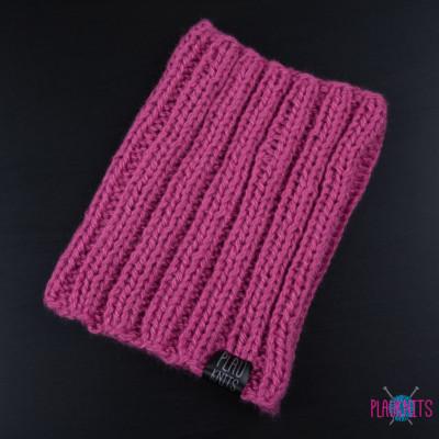 Розовая вязаная повязка для дред